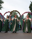 Wild Rose Garland English Dancers