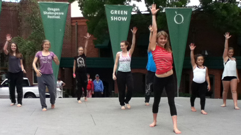 Ashland Danceworks getting ready for the Green Show